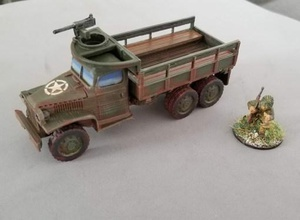 deuce half 2 1 2 ton truck - 28mm - wargaming3d 28mm miniature file rework file thingiverse accredited below  file allows 28mm print either standard 2 1 2 ton truck one mount either 30 mmg 50 hmg optimized fdm printing