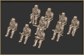 german infantry 15mm seated - wargaming3d 28mm miniature german infantry 15mm seated - wargaming3d 28mm miniature