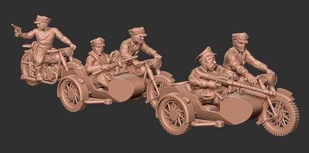 pol motobikers01 - wargaming3d 28mm miniature pol motobikers01 - wargaming3d 28mm miniature