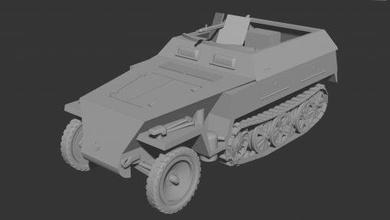 sdkfz 250 1 neu - wargaming3d 28mm miniature sdkfz 250 1 neu - wargaming3d 28mm miniature