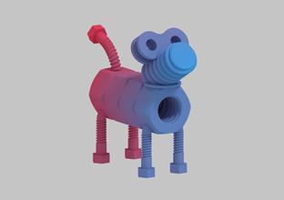 bolt nut dog toys bolt bolt nut bolt nut dog color color model dog mechanical mechanical toy nut