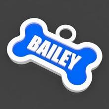 pet dog tag bailey fashion bailey bone dog pet tag