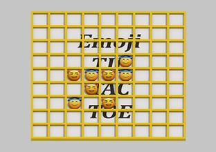 tic - tac - toe emoji toys board board game color color model emoji evil emoji halo emoji tic tac toe