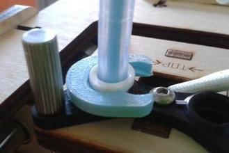 bowden tube clip 3d printer parts enhancements bowden bowden clip bowden clamp bowden feeder bowden extruder bowden-tube bowden clamp blue horse shoe feeder retraction stringing