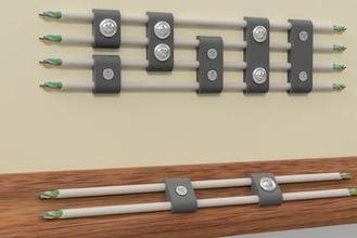 cabo clipes cabo grampo cabo grampo lan torcido par cabo gestão plinto rodapé borda parede monte parede monte