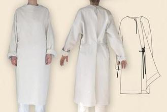 ctc-isolamento-abito covid19 tessile modello medico la cucitura