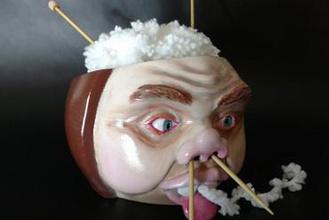 face yarn bowl gadget bowl knitting yarn yarn bowl ugly