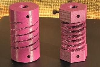 flexible shaft coupler adapter 3d printer parts enhancements megamax milwaukee makerspace shaft coupler shaft adapter flexible shaft coupler nema-23