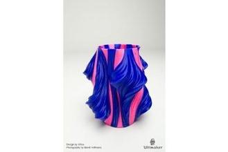 julia vase 011 - solar flare your home julia vase dual extrusion fractal