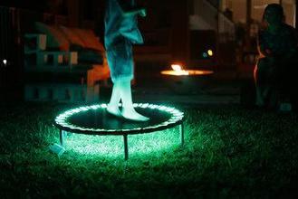 led trampoline neopixels circuitpython maker diy adafruit neopixel trampoline led circuit python