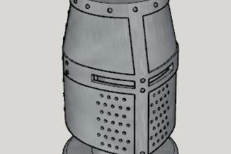 medieval great helm pen stand standard ver 1-3 size ver 3d printer parts enhancements medieval great helm pen stand standard ver 1-3 size ver
