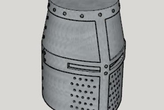 medieval great helm standard ver full size ver 3d printer parts enhancements medieval great helm standard ver full size ver