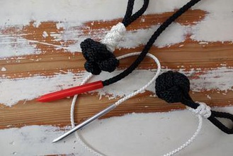 needle rope cordage other rope paracord cordage needle tools knots knotting freecad slic3r prusa i3