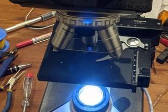 parts convert olympus ch2 cht microscope led illumination education microscope olympus