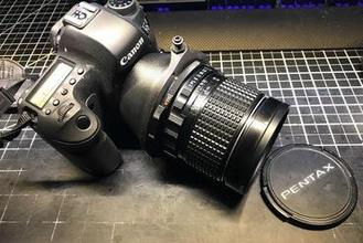 pentax 6x7 lens canon ef adapter maker diy canon ef pentax 67 adapter