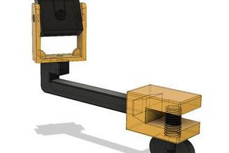 picam print bed mount 3d printer parts enhancements picam mount housing clamp print bed camera timelapse holder arm