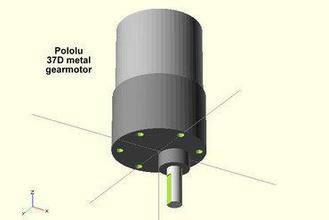 pololu 37d gearmotor maker diy pololu 37d gearmotor motor