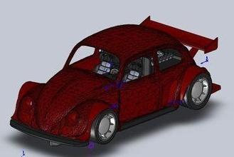 slotcar-vw beetle toys slotcar beetle coccinelle 1 32